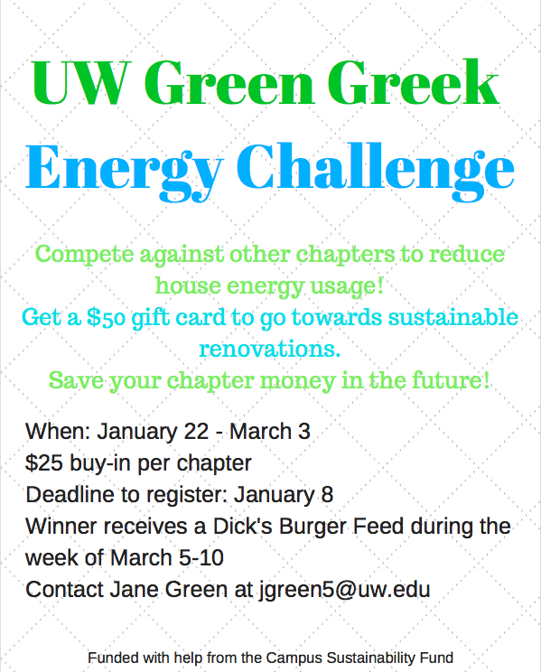 UW Green Greek Energy Challenge